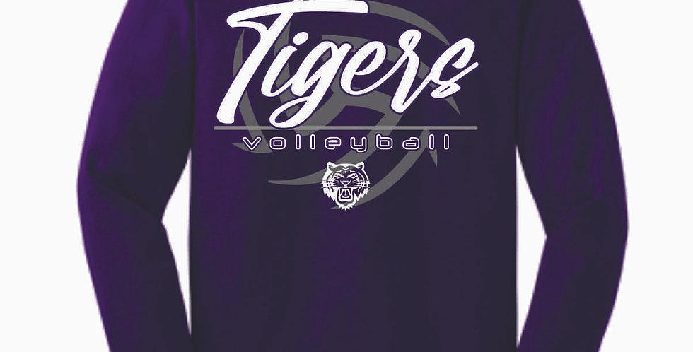 Tiger Volleyball Purple Ball Cotton Longsleeve