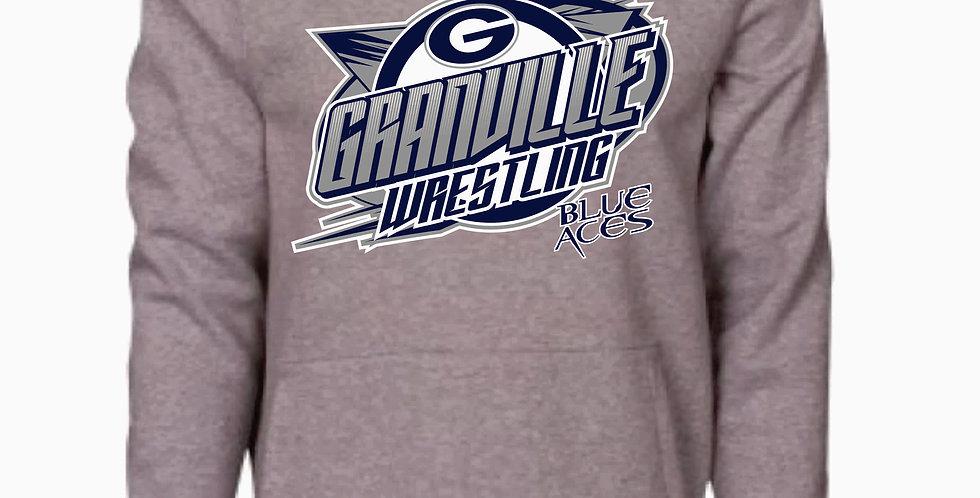 Granville Wrestling Grey Underarmour Cotton Hoody