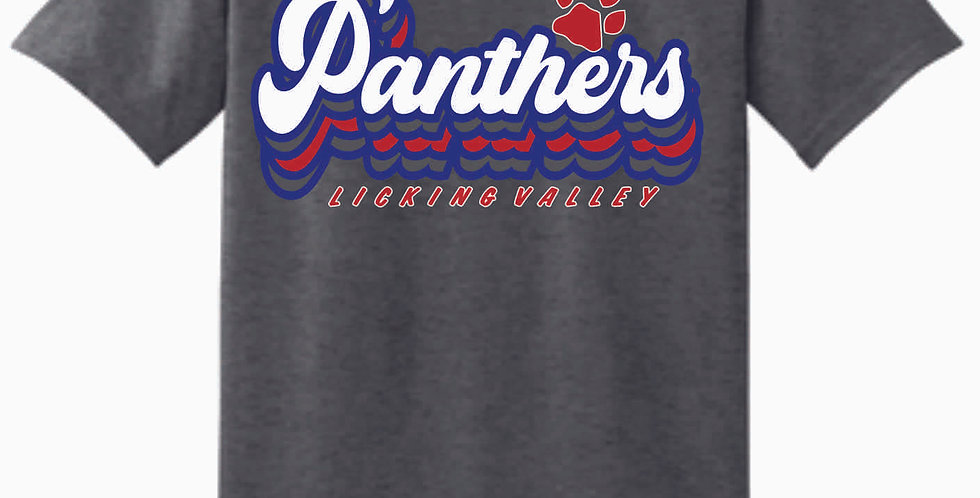Licking Valley Script Dark Grey Cotton T Shirt