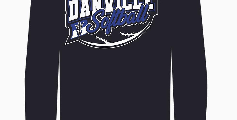 Danville Softball Black Dri Fit Longsleeve
