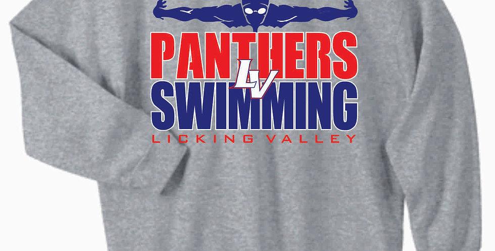 Licking Valley Swimming Gildan Cotton Grey Crewneck