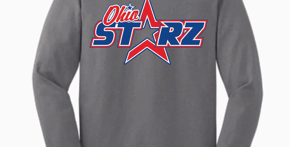 Ohio Starz Grey Logo Cotton Longsleeve