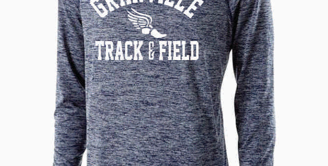Granville Track and Field Navy Dri Fit Longsleeve