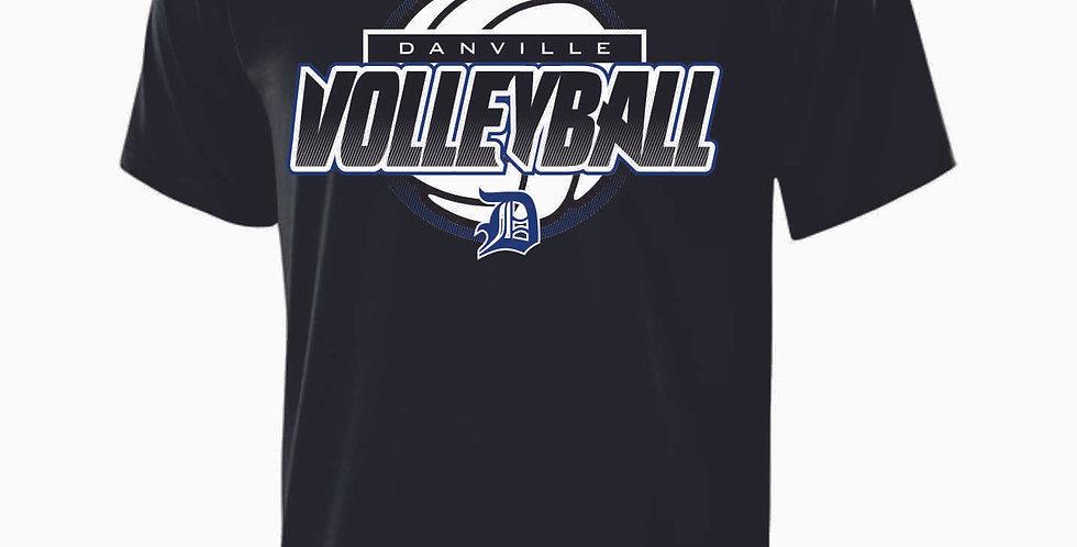Danville Volleyball Black Shortsleeve Dri Fit
