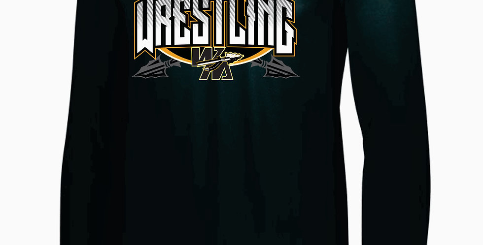 Watkins High School Wrestling Black Dri Fit Longsleeve