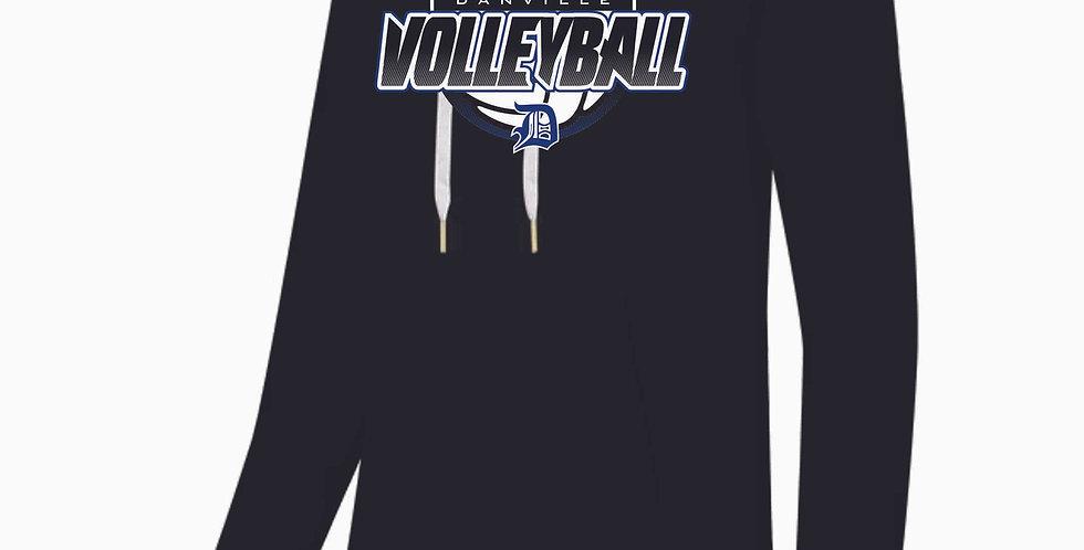 Danville Volleyball Ladies Black Hood