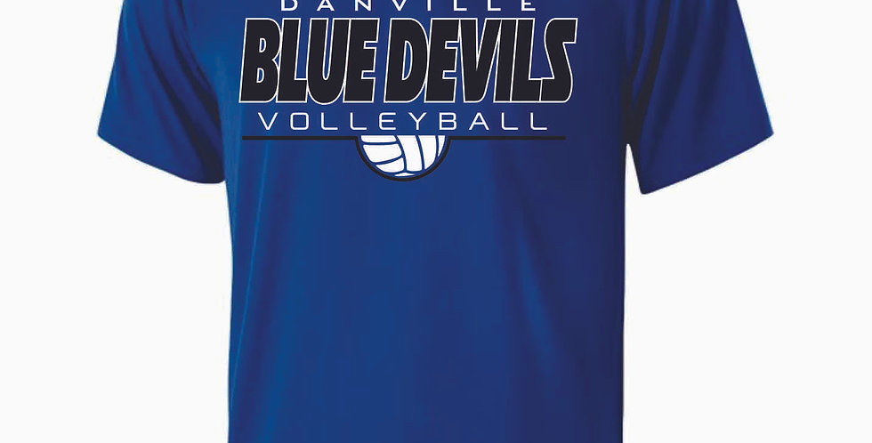 Danville Volleyball Royal Simple Shortsleeve Dri Fit