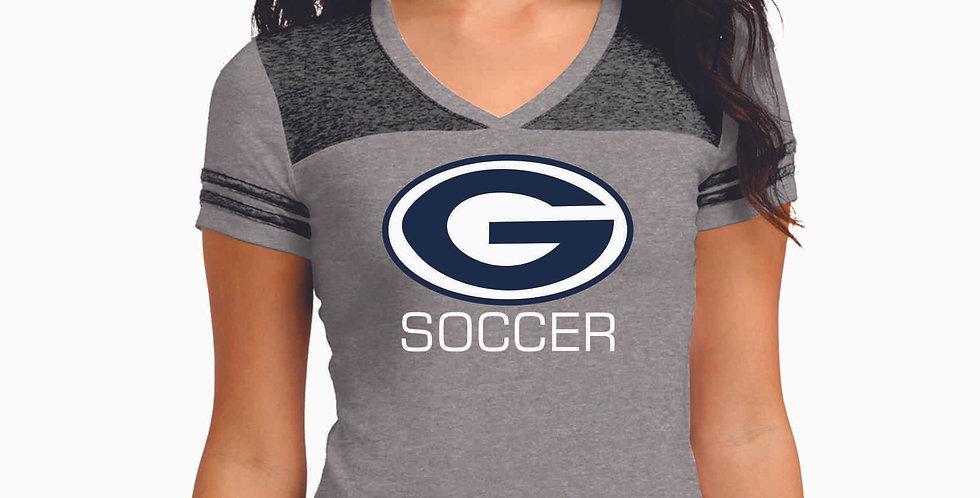 Granville Soccer G Logo  Ladies Vintage Tee