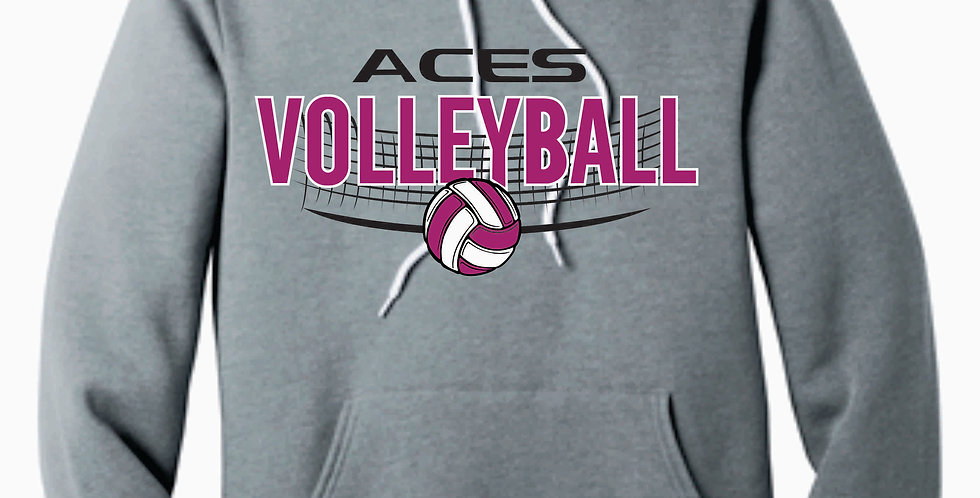 Aces Volleyball Grey Bella Canvas Soft Hoody