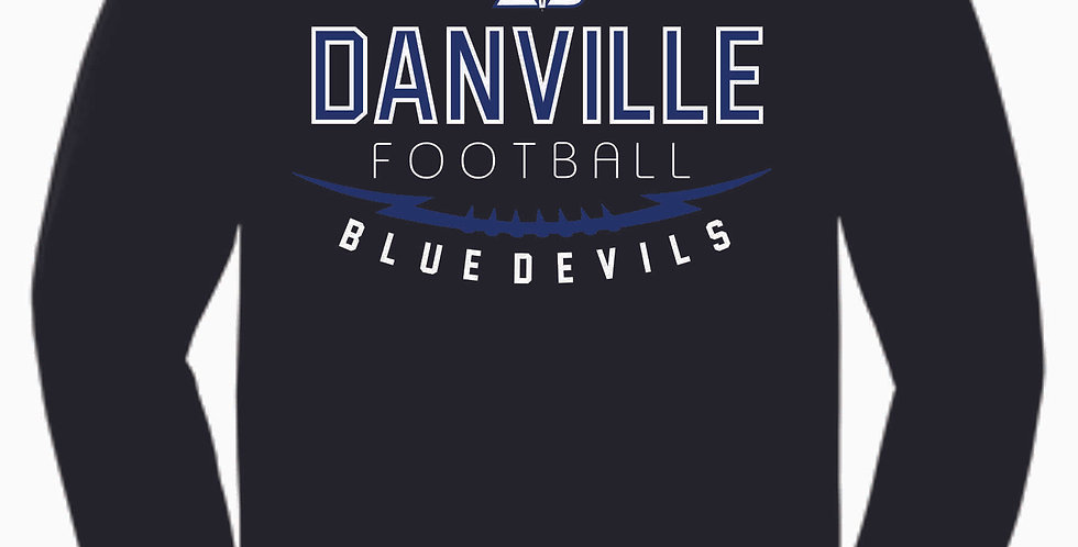Danville Football Black Cotton Longsleeve
