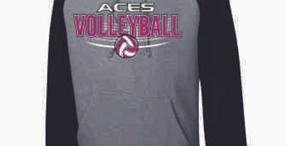 Aces Volleyball Original Two Toned Hoodie