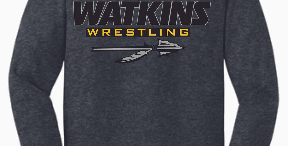 Watkins Youth Wrestling Dk Grey Cotton Longsleeve Tee