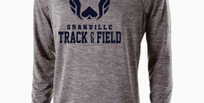 Granville Track and Field Original Grey Dri Fit Longsleeve