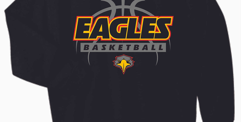 LCCA Black Basketball Cotton Crewneck