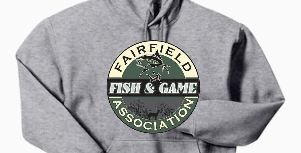 Fairfield Fish and Game Grey Gildan Cotton Hoody