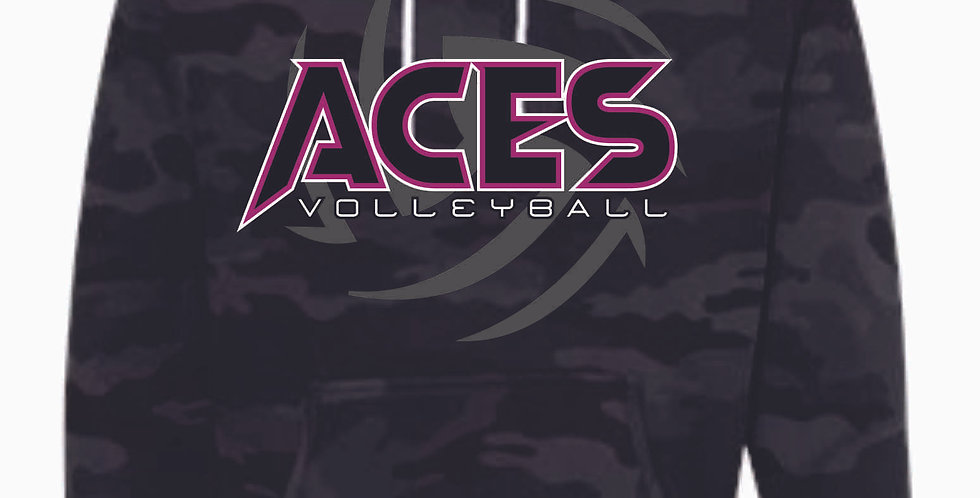 Aces Volleyball Black Camo Hoody