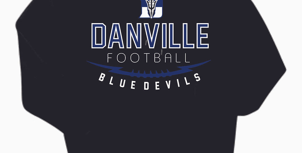 Danville Football Black Cotton Hoody