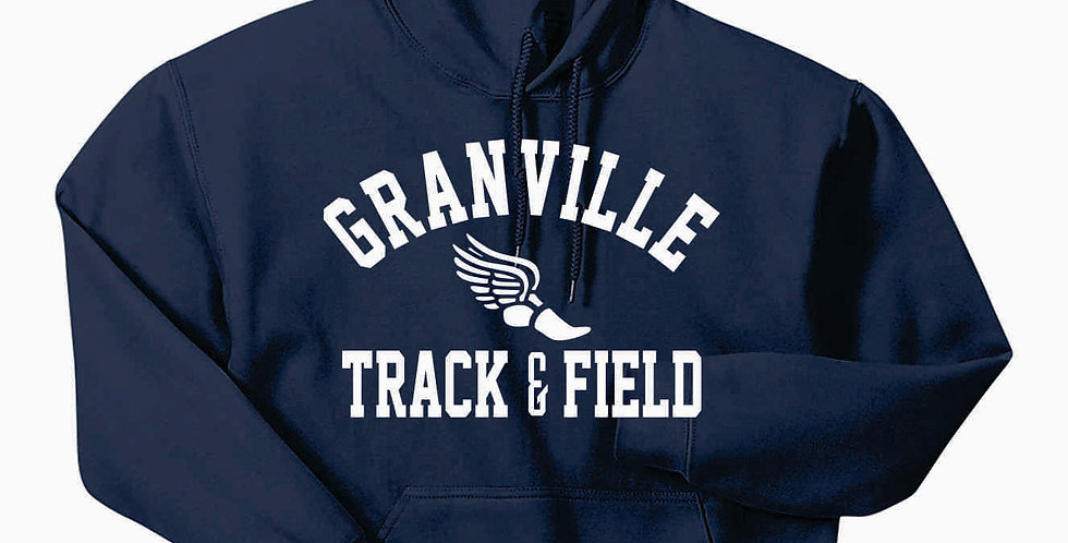 Granville Track and Field Navy Hoody