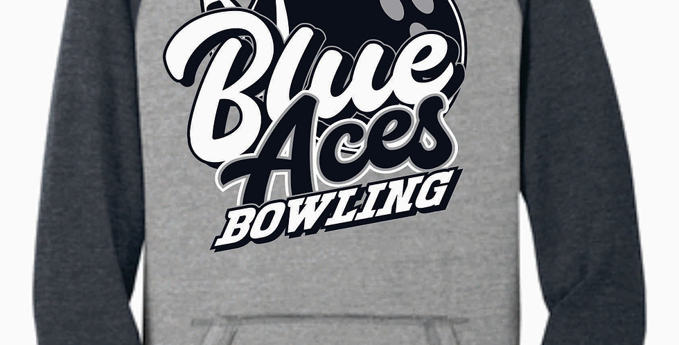 Blue Aces Bowling Grey Two Toned Soft Hood