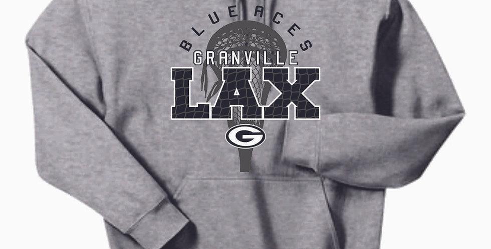 Granville LAX Grey Cotton Hoody