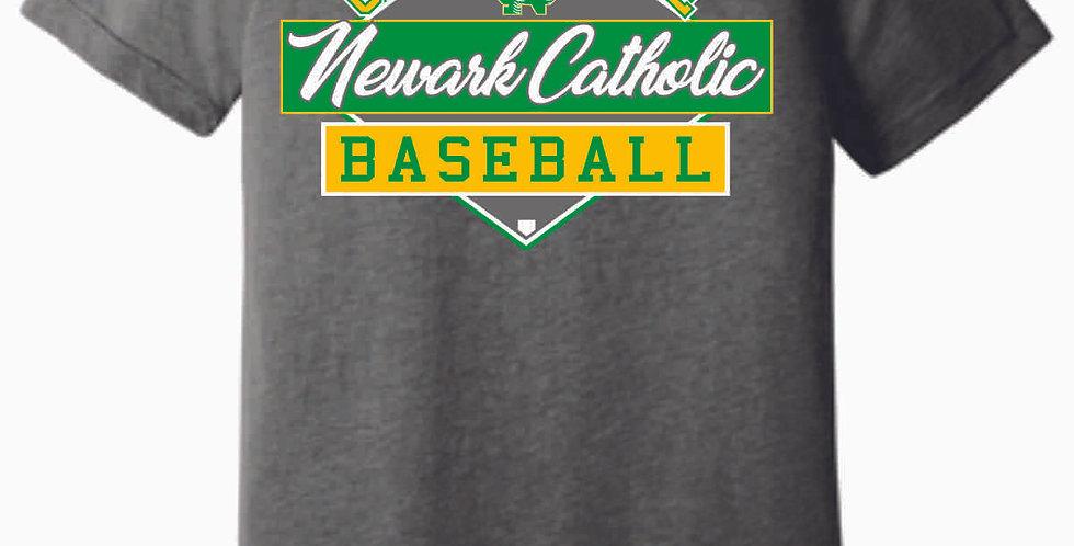 Newark Catholic Baseball Grey Soft T Shirt