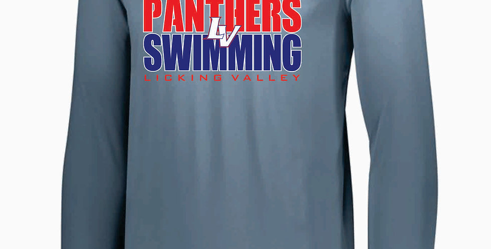 Licking Valley Swimming Grey Dri Fit Longsleeve