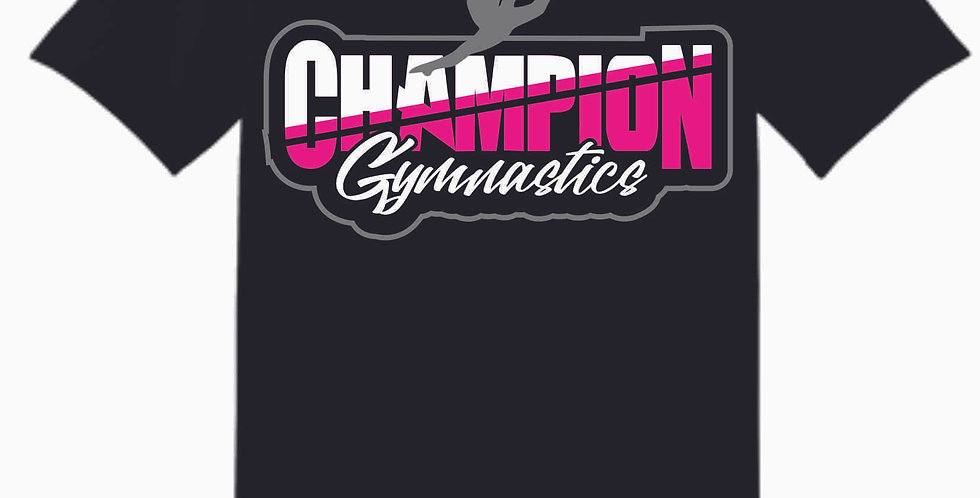 Champion Gymnastics Black Cotton T Shirt