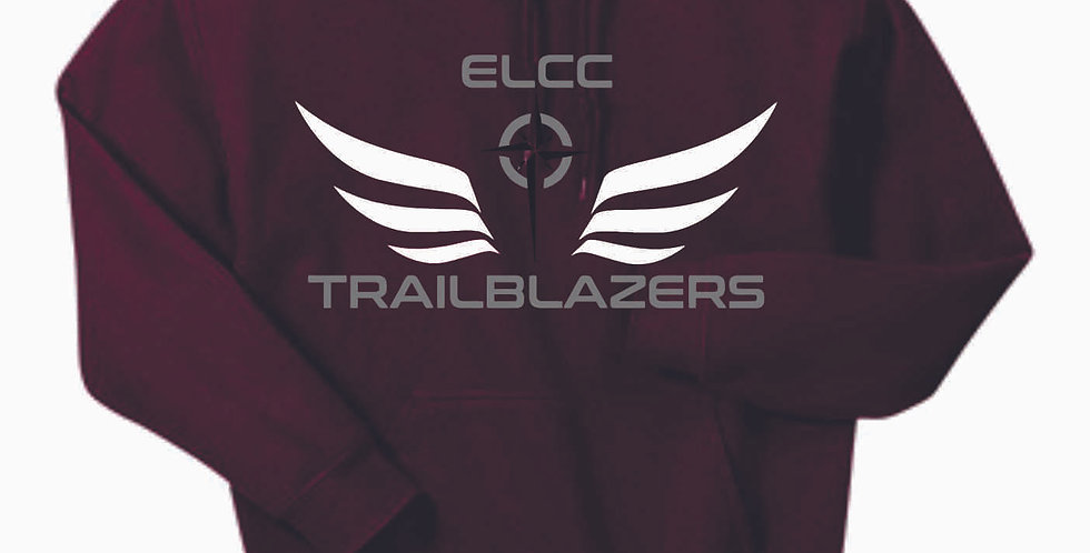 ELCC Basketball Maroon Cotton Hoody