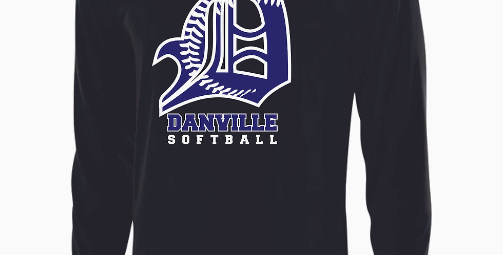 Danville Softball Black Dri Fit Longsleeve