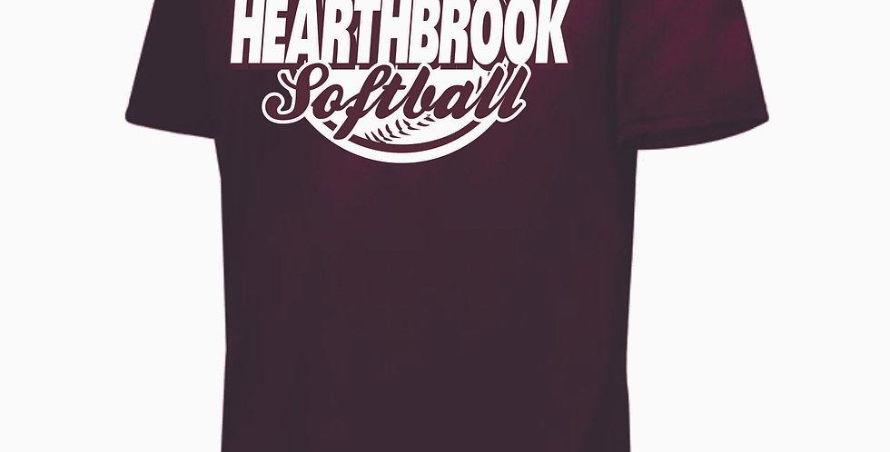 Newark Youth Softball Hearthbrook Maroon Shortsleeve Dri Fit