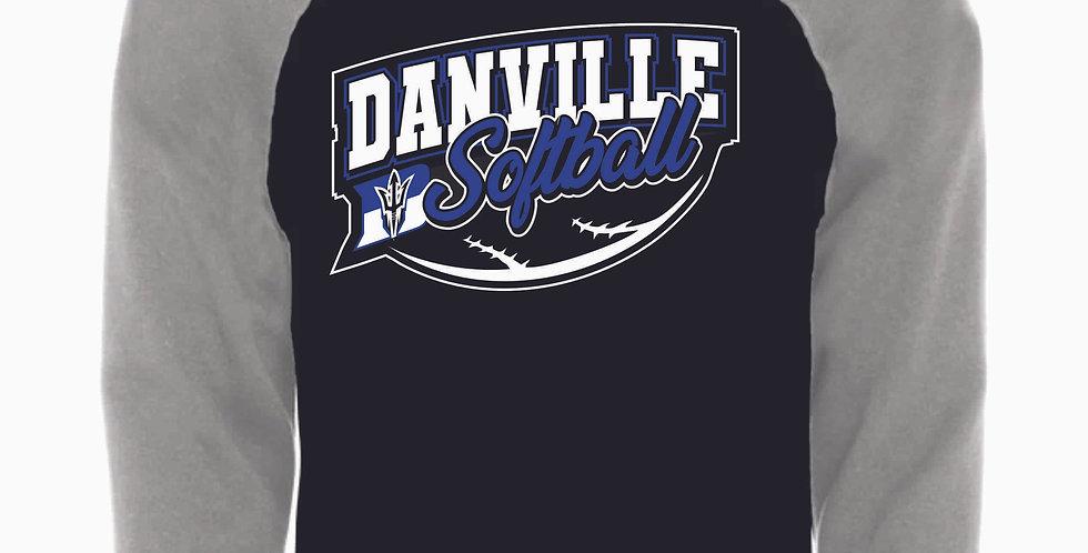 Danville Softball Black Banner Cotton Hoody