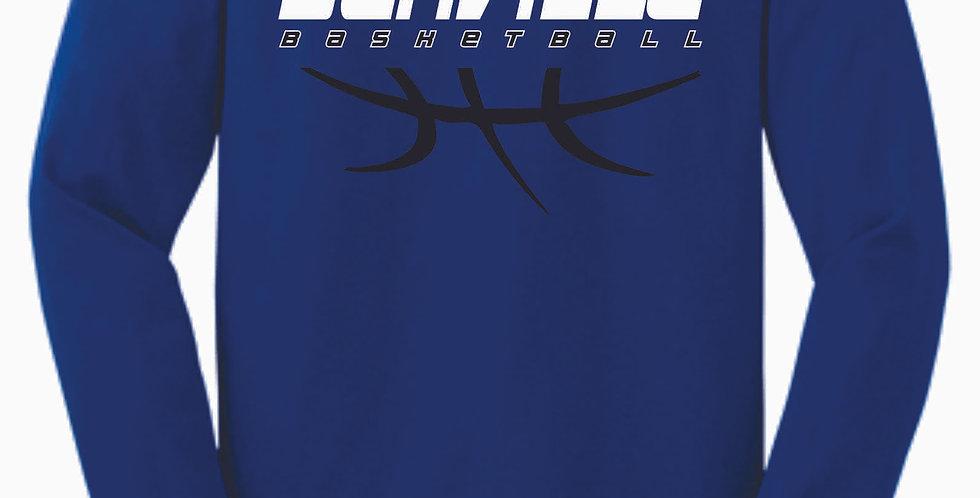 Danville Basketball Royal Cotton Longsleeve Tee