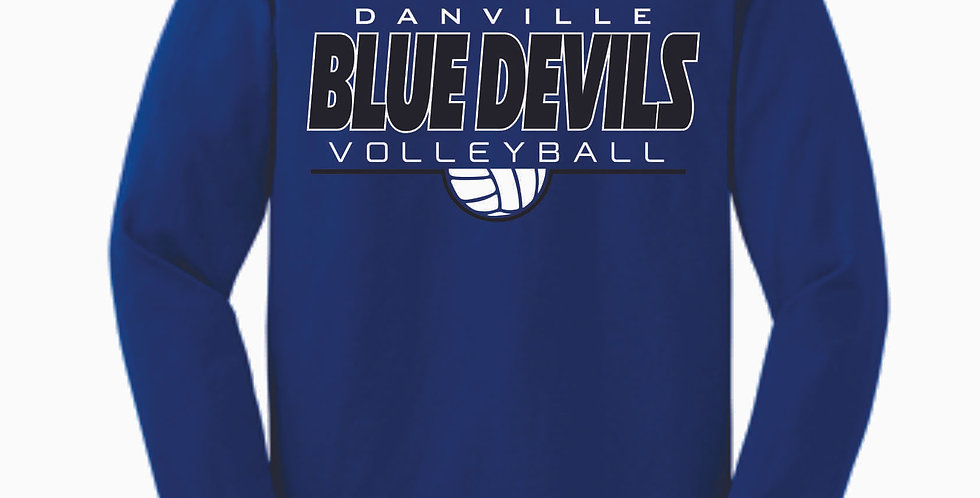 Danville Volleyball Royal Simple Cotton Longsleeve T Shirt