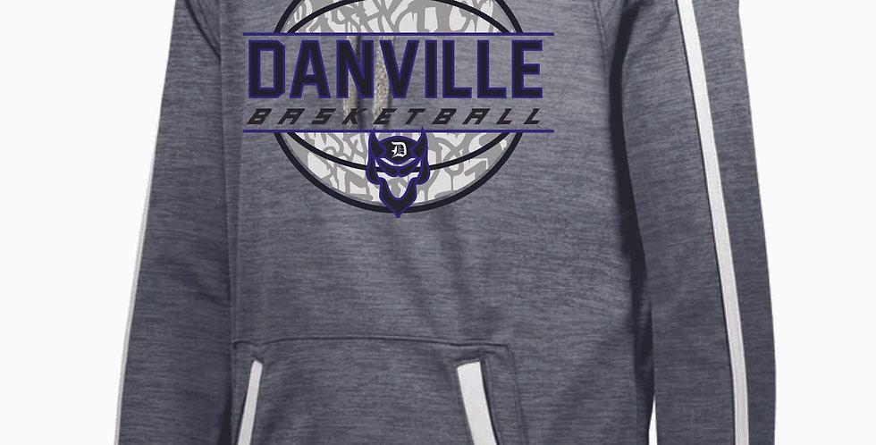 Danville Basketball Grey Poly Hood