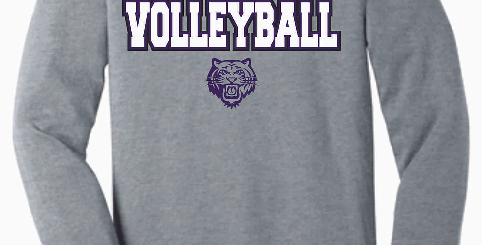 Tiger Volleyball Grey Simple Soft Longsleeve