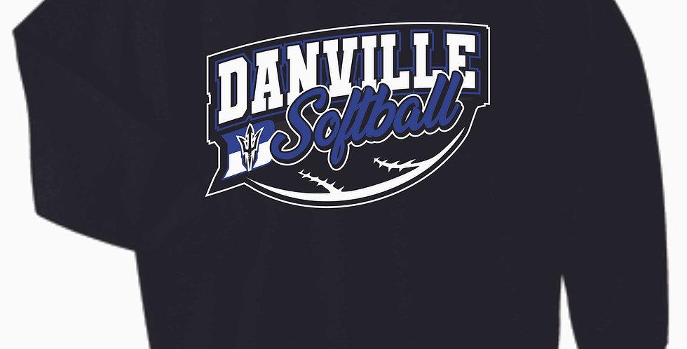 Danville Softball Black Cotton Crewneck
