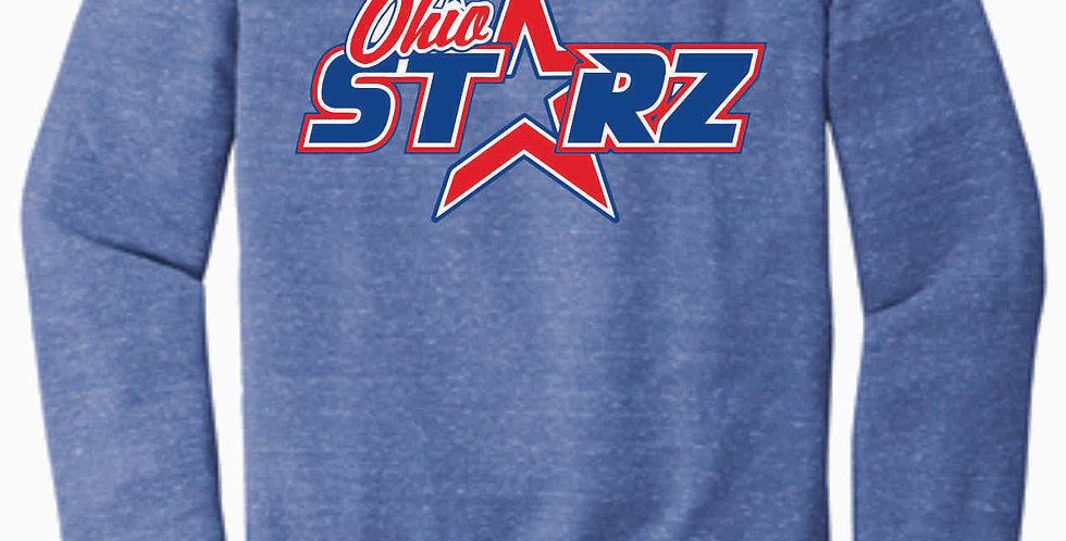 Ohio Starz Royal Logo Jerzee Vintage Snow Heather Crewneck