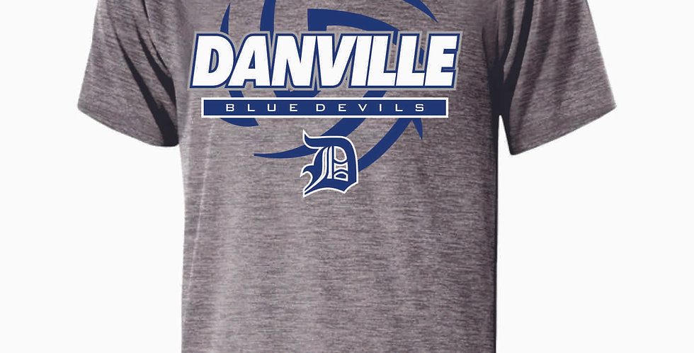 Danville Volleyball Grey Shortsleeve Dri Fit