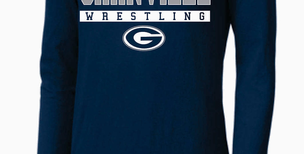 GHS Wrestling Navy Nike Core Cotton Long Sleeve