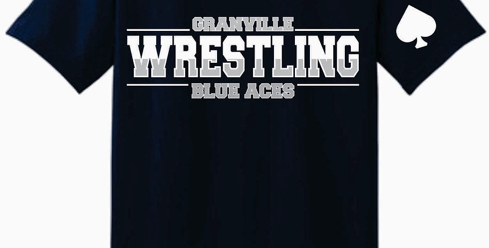 Granville Wrestling Soft Navy T shirt