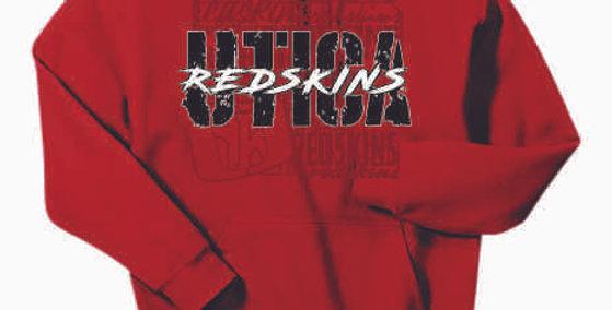 Utica Red Cotton Hoody