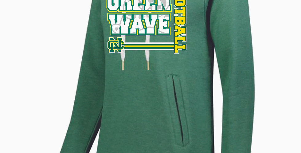 NC Football Green Ladies Hoody