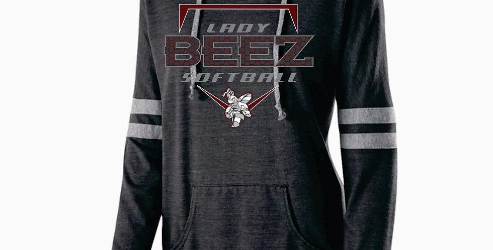 Lady Beez Ladies Black Heather Low Key Pullover