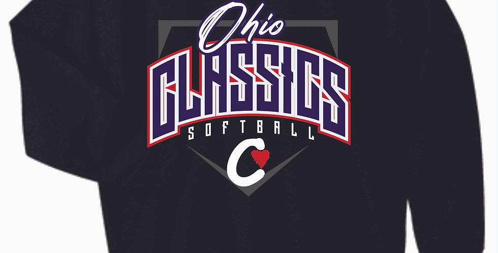 Ohio Classics Black Cotton Crew