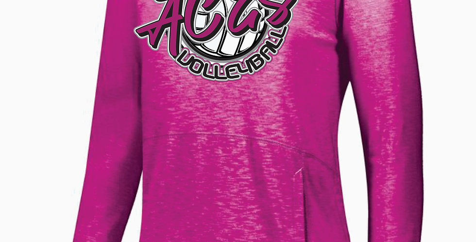 Aces Volleyball Holloway Pink Script Journey Hood