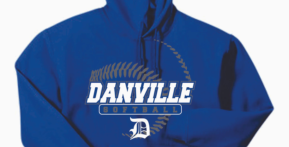Danville Softball Cotton Royal Hoody