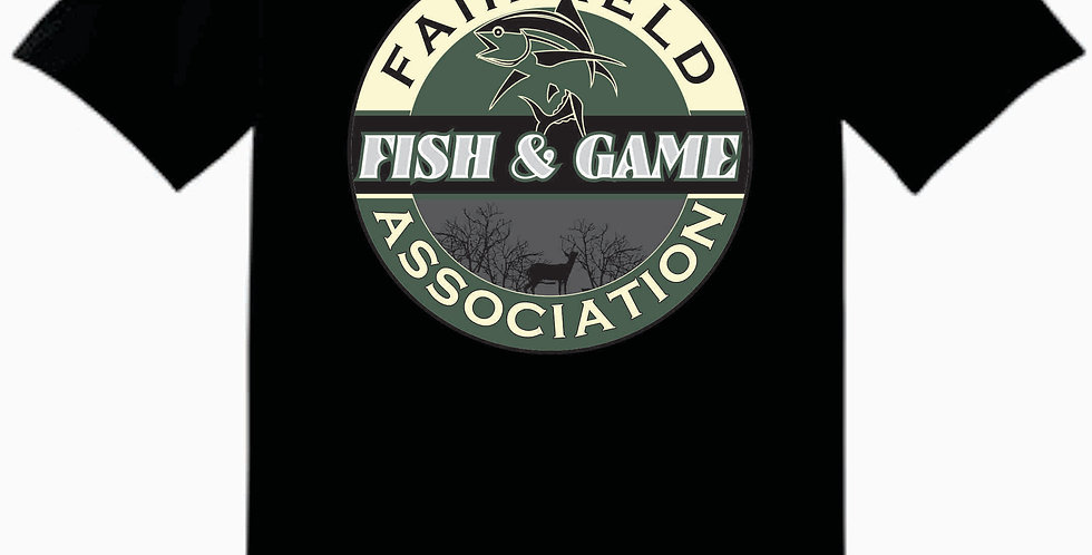 Fairfield Fish and Game Black Gildan Cotton T Shirt