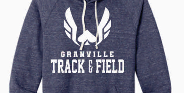 Granville Track and Field Original Navy Soft Hoody
