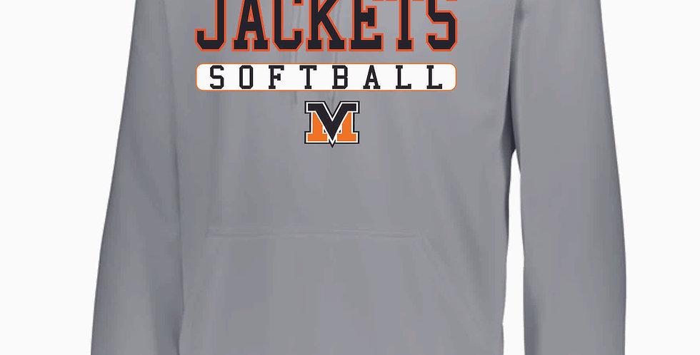 Mount Vernon Softball Grey Poly Hoody