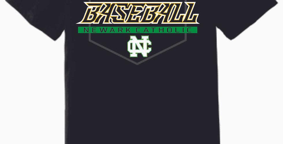 Newark Catholic Baseball Black Soft T Shirt